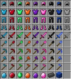 minecraft ruby tools | emriled armer colouring pages