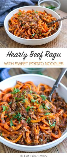 Shredded Beef Ragu With Sweet Potato Noodles (Paleo, Whole30, Gluten-Free)