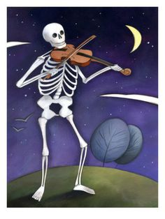 Skeleton Playing a Violin, Day of the Dead, Dia de los Muertos