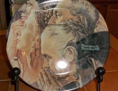 "Metal Norman Rockwell ""Freedom of Worship"" Plate ... (EUC)"