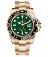 Rolex GMT Master II Or jaune vert Cadran 116718 G