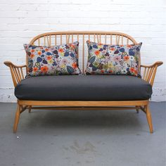 Winter's Moon — Vintage Two Seater Ercol Sofa (Bespoke) Ercol Sofa, Ercol Furniture, 2 Seater Sofa, Retro Furniture, Country Furniture, Country Decor, Sofa Design, My Living Room, Home And Living