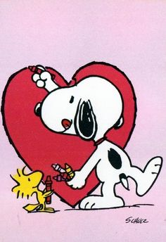 Your place to buy and sell all things handmade - Peanuts - Etsy Snoopy Love, Charlie Brown Und Snoopy, Snoopy E Woodstock, Snoopy Valentine's Day, Snoopy Images, Snoopy Pictures, Peanuts Cartoon, Peanuts Snoopy, Vintage Valentine Cards