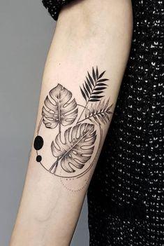 63 Best Tattoos By Amazing Artist Flami - TheTatt - - Tropisches Tattoo, Tattoo Band, Shin Tattoo, Piercing Tattoo, Best Tattoo, Knee Tattoo, Mini Tattoos, Leaf Tattoos, Body Art Tattoos