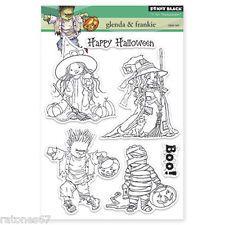 New Penny Black GLENDA & FRANKIE Clear Stamp Halloween Girl Boy Boo Mummy Witch