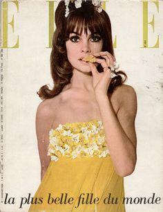 Elle du 27 mai 1965, Jean Shrimpton photographiée par Peter Knapp