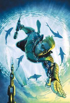 Green Arrow Oliver goes all Aquaman and faces his fear of the open sea in a desperate bid to win back control of his company from the Ninth Circle! Dc Comics Characters, Dc Comics Art, Green Arrow Comics, Arrow Black Canary, Marvel E Dc, Marvel Avengers, Comic Art Community, Comics Universe, Detective Comics