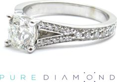 The price is for the whole complete Extremely rare. Mined, Cut and Polished in Canada the diamond in this ring is truly special.  Ideal Square is the only fully square diamond shape other than the round, that displays Hearts and Arrows effect to its fullest potential. 1.02 Carat Diamond shown. At PureDiamond.ca we have unparalleled friendly service.  If you're in the Greater Vancouver, whether it's Vancouver, Surrey, Richmond or beyond,  please call (604)563 9875 to book your appointment.