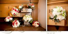 Love this idea for displaying wedding bouquets. Shot by Erin Johnson Photography in Minneapolis