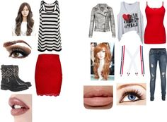 """Zendaya and bella thorne inspired outfits xxx"" by abbie13-766 ❤ liked on Polyvore"