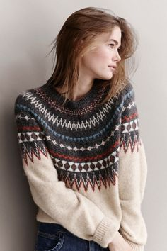 Knitting Patterns Pullover Norway gets competition. Look at this sweater. Closed Fashion in Gränicher Lucerne Pull Crochet, Free Crochet, Cozy Sweaters, Fair Isle Sweaters, Nordic Sweater, Winter Sweaters, Big Sweater, Knitting Sweaters, Hipster Sweater