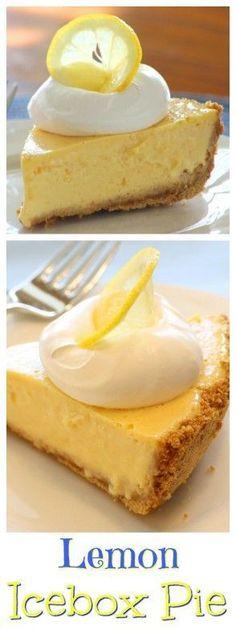 Lemon IceBox Pie | www.savingdessert.com | #pie #lemon #icebox
