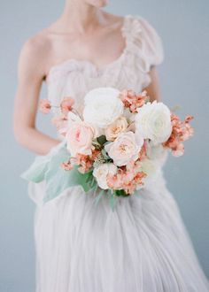 #mint and #blush bouquet | Elizabeth Messina
