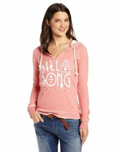 Billabong Juniors Frankly Pull Over Hoodie, Rustic Rose Heather, Medium - http://www.immmb.com/women-clothing/billabong-juniors-frankly-pull-over-hoodie-rustic-rose-heather-medium.html/