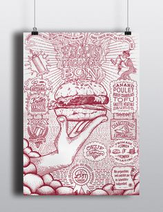 LPM burgers by Nebojsa Matkovic, via Behance