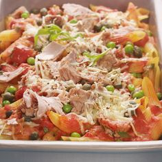 Tuna Pasta Bake Recipe WW Germany - Now cook tuna noodle casserole in 35 and discover numerous other Weight Watchers recipes. Baked Pasta Recipes, Healthy Recipe Videos, Healthy Pastas, Healthy Crockpot Recipes, Healthy Salad Recipes, Healthy Breakfast Recipes, Vegetarian Recipes, Healthy Meals For One, Easy Meals