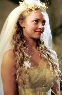 Sophie Sheridan (played by Amanda Seyfried in Mamma Mia!) - Gina Conway's Wedding Moments #wedding #bridalhair