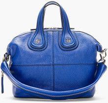 02b0f167c7 Givenchy Royal Blue Leather Nightingale Shoulder Bag - Lyst Givenchy  Clothing