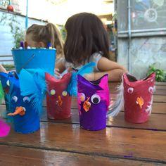 Happy Owls. Toilet Paper Roll, Liquid Paint, Googly Eyes, Tissue Paper, Feathers.  *** Весели бухали от ролки от тоалетна хартия, темперна боя, пластмасови очички, пера и тишу хартия