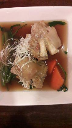 Okinawa simmered pork knuckle.