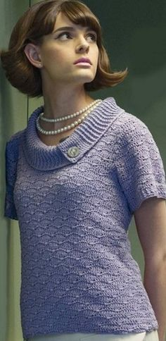 Пуловер с оригинальным воротничком. Пуловер с широким воротником. Схема пуловера с широким воротником