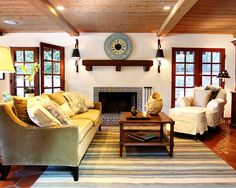 Mediterranean Spaces Faux Fireplace Mantel Design, Pictures, Remodel, Decor and Ideas - page 3