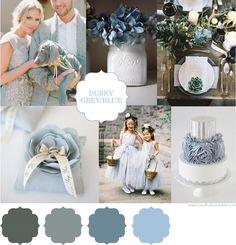 Wedding Colour Scheme {Dusky Blue and Grey}   http://brideclubme.com/articles/wedding-colour-scheme-dusky-blue-grey/