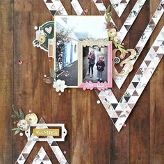 You can never go wrong with a woodgrain background! This layout by @elodielle highlights the Auburn Lane collection perfectly! #pinkpaislee #auburnlane #layout #scrapbooking