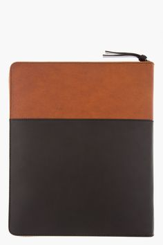 GIVENCHY Black & Brown Leather iPad Case