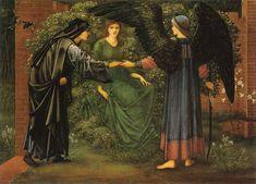 Sir Edward Coley Burne-Jones (1833-1898), The Heart of the Rose - 1889