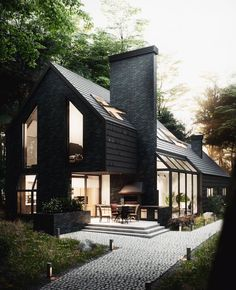 (@allofrenders) House in the woods ♥