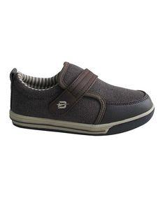Look at this #zulilyfind! Dark Brown Stripe Slip-On Sneaker by Dream Seek #zulilyfinds