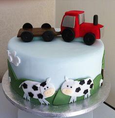Farm christening cake