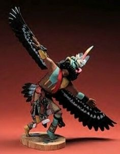 A beautiful Eagle Dancer Kachina. Great detail work by the artist.