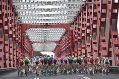 The peloton crosses a bridge during stage 2 TDF 2015 (Tim de Waele/TDWSport.com)