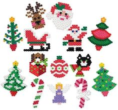 Christmas drawings, pearls patterns for Christmas, Santa Claus, Christmas tree … – Feste und Basteln – Hama Beads Perler Bead Designs, Hama Beads Design, Perler Bead Art, Hama Perler, Melty Bead Patterns, Hama Beads Patterns, Beading Patterns, Christmas Perler Beads, Beaded Christmas Ornaments