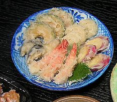 "といといのミニチュア【和の惣菜屋さん3】/ Japanese deli miniature from ""Toitoi"" - Tempura   ☆Japanese 10 yen coin below for comparison."