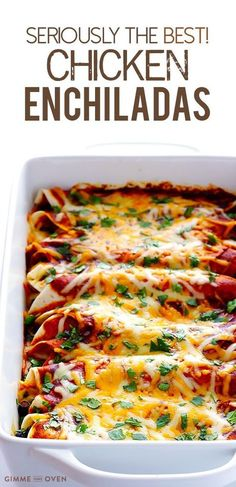 Best Chicken Enchiladas Ever LOVE this easy chicken enchilada recipe! It's made with the most delicious homemade enchilada sauce, chicken, cheese, and whatever other fillings you love most. Always a great Mexican dinner recipe -- plus these enchiladas are Best Chicken Enchilada Recipe, Homemade Enchilada Sauce, Recipe Chicken, Homemade Sauce, Chicken Enchilada Casserole, Sauce Enchilada, Taco Sauce, Taco Seasoning, Tortilla Wraps