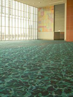 Custom #Milliken installation at the Kansas City Convention Center, designed by HNTB.
