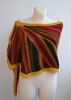 Rainbow  knitted shawl my inspiration unique gifts romantic feminine women…