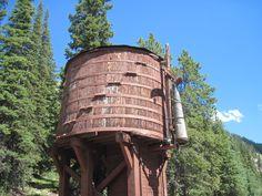 water tank for Trains, Alpine Tunnel loop, Colorado