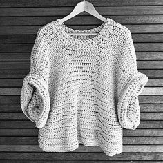 The Short Sleeve sister to the Stevie Jumper, the Ziggy SS Slouch Jumper is an absolute must have piece. The Ziggy SS Slouch Jumper is made onesize. Crochet Cowl Free Pattern, Knitting Patterns Free, Crochet Lace, Crochet Stitches, Crochet Patterns, Hat Patterns, Free Knitting, Crochet Cardigan, Crochet Designs