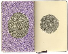 stephanie kubo art   ... art crafts Sketch pattern sketchbook Moleskin shape stephanie kubo