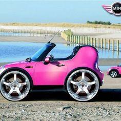 ☆ Pink mini mini ☆ #autos #automobile #cars