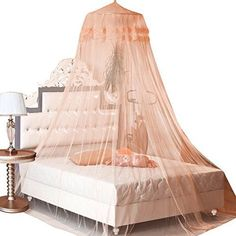 Leegoal New Round Lace Curtain Dome Bed Canopy Netting Princess Mosquito Net (Ja