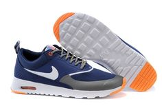 Nike Air Max White Blue Thea Print Mens Shoes 2015 New Hot Dark Blue Gray Orange $88.57 | www.popularshoesshop.com