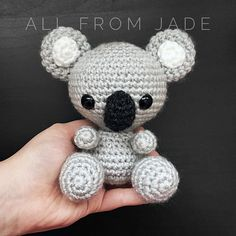 Cute little handmade koala. Perfect for a gift. Important informations : Delievery time : 3-4 weeks Size : About 5 inches tall Colors of the plush are always at the choice of the buyer. Please specify when purchasing, in the note for the seller section if you want the basic colors (as