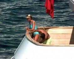 Princess Diana and Dodi Al Fayed on holiday 1997.