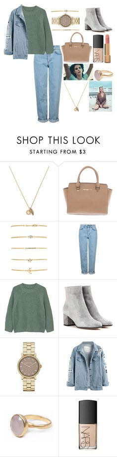 """""""no sleeping in on Sunday"""" by polysetter-862 ❤ liked on Polyvore featuring Forever 21, Michael Kors, Topshop, MANGO, Gianvito Rossi, Marc Jacobs, Bohemia, NARS Cosmetics and Chanel"""