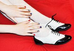 David Lynch Inspired Nails   Mermaidens - Musings of a Modern Mermaid: David Lynch Inspired Nails